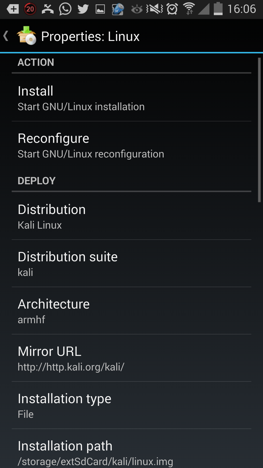 kali linux chroot install on android os the infosec guru